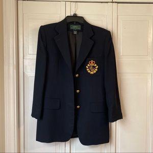 Lauren Ralph Lauren 3 Button Blazer Jacket size 4